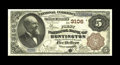 National Bank Notes:West Virginia, Huntington, WV - $5 1882 Brown Back Fr. 467 The First NB Ch. #3106. A most attractive example with a great layout. Whil...