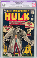 Silver Age (1956-1969):Superhero, The Incredible Hulk #1 (Marvel, 1962) CGC Apparent VG 4.0 Slight(A) White pages....