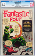 Silver Age (1956-1969):Superhero, Fantastic Four #1 (Marvel, 1961) CGC GD/VG 3.0 White pages....