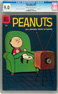 Four Color #878 Peanuts (Dell, 1958) CGC VF/NM 9.0 Cream to off-white pages