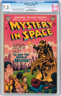 Golden Age (1938-1955):Science Fiction, Mystery in Space #6 (DC, 1952) CGC VF- 7.5 Off-white to whitepages....