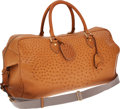 Luxury Accessories:Travel/Trunks, Gucci Ostrich Travel Carryon Bag with Shoulder Strap. ...
