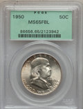 Franklin Half Dollars: , 1950 50C MS65 Full Bell Lines PCGS. PCGS Population (1002/185). NGCCensus: (283/38). Numismedia Wsl. Price for problem fr...