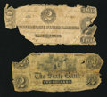 Confederate Notes:Group Lots, T54 $2 1862;. Mt. Vernon, IN - The State Bank $2 1850's. ...(Total: 2 notes)