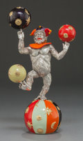 Silver Smalls:Other , A TIFFANY & CO. SILVER AND ENAMEL JUGGLING CIRCUS MONKEY ONBALL DESIGNED BY GENE MOORE . Tiffany & Co., New York, NewYork,... (Total: 5 Items)