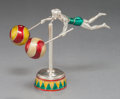 Silver Smalls:Other , A TIFFANY & CO. SILVER AND ENAMEL MALE CIRCUS ACROBAT ON PLINTHDESIGNED BY GENE MOORE . Tiffany & Co., New York,New York, c...