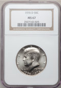 Kennedy Half Dollars: , 1976-D 50C Clad MS67 NGC. NGC Census: (23/0). PCGS Population(26/0). Mintage: 287,565,248. Numismedia Wsl. Price for probl...