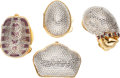 Luxury Accessories:Accessories, Set of Four; Judith Leiber Crystal Pillboxes. ... (Total: 4 Items)