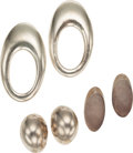 Luxury Accessories:Accessories, Set of Three; Patricia Von Musulin Silver Earrings. ... (Total: 3Items)