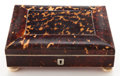 Decorative Arts, British:Other , A VICTORIAN TORTOISESHELL, IVORY AND SILVER BOX . Maker unknown,England, circa 1860. 2-3/4 x 7-3/4 x 6-3/8 inches (7.0 x 19...
