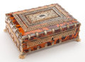 Decorative Arts, British:Other , AN ANGLO-INDIAN TORTOISESHELL AND BONE BOX . Maker unknown, India,circa 1850. 3 x 8-3/4 x 6-3/4 inches (7.6 x 22.2 x 17.1 c...