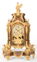 Timepieces:Clocks, A FRENCH REGENCE-STYLE TORTOISESHELL, BRASS AND GILT BRONZE CLOCKON STAND . Maker unknown, France, circa 1880 - 1890. 41 i...