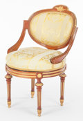 Decorative Arts, French:Other , A FRENCH LOUIS XVI-STYLE KINGWOOD AND GILT BRONZE ROTATING CHAIR .Maker unknown, France, circa 1900. 34 x 21-1/2 x 21-1/2 i...