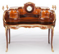 Furniture : French, A FRENCH LOUIS XV-STYLE MAHOGANY, SATINWOOD AND GILT BRONZEBUREAU AU ROGNON . Maker unknown, French, circa 190...