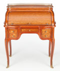 Furniture : French, A FRANÇOIS LINKE FRENCH LOUIS XV-STYLE KINGWOOD, MARQUETRY AND GILTBRONZE BUREAU À CYLINDRE AFTER JEAN-FRANÇOIS O...