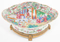 Asian:China Trade, A CHINESE FAMILLE ROSE PORCELAIN BOWL WITH GILT BRONZE MOUNTS . The porcelain: Jingdezhen, China, circa 1880. Th...
