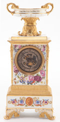 Ceramics & Porcelain, A JACOB PETIT FRENCH PORCELAIN MANTEL CLOCK . Circa 1845. Marks: J.P.. 15 x 6-3/4 x 4-5/8 inches (38.1 x 17.1 x 11.7 cm)...