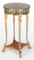 Furniture : French, A FRENCH LOUIS XVI-STYLE KINGWOOD, GILT AND PATINATED BRONZE, ANDMARBLE GUERIDON TABLE . Maker unknown, France, circa 1900...