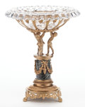 Decorative Arts, French:Other , A FRENCH LOUIS XVI-STYLE GILT BRONZE, MARBLE AND CUT GLASS TAZZA .Maker unknown, France, circa 1900. 13-1/4 inches high x 1...