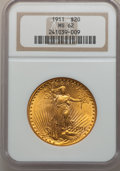 Saint-Gaudens Double Eagles: , 1911 $20 MS62 NGC. NGC Census: (910/948). PCGS Population(673/1209). Mintage: 197,200. Numismedia Wsl. Price for problemf...