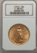 Saint-Gaudens Double Eagles: , 1912 $20 MS62 NGC. NGC Census: (935/548). PCGS Population(1040/1546). Mintage: 149,700. Numismedia Wsl. Price for problem...