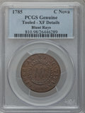 Colonials, 1785 COPPER Nova Constellatio Copper, Blunt Rays -- Tooled -- PCGSGenuine. XF Details. NGC Census: (3/5). PCGS Population ...