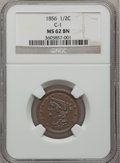 Half Cents: , 1856 1/2 C MS62 Brown NGC. C-1. NGC Census: (62/107). PCGSPopulation (43/71). Mintage: 40,430. Numismedia Wsl. Price for ...
