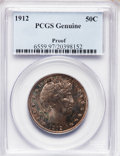 Proof Barber Half Dollars, 1912 50C PCGS Genuine. Proof. The PCGS number ending in .97suggests environmental damage as the reason, or perhaps one of ...