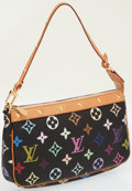 Luxury Accessories:Bags, Louis Vuitton Black and Multicolor Monogram Canvas Pochette Bag....