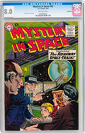 Golden Age (1938-1955):Science Fiction, Mystery in Space #50 Bethlehem pedigree (DC, 1959) CGC VF 8.0Off-white pages....