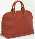Luxury Accessories:Bags, Louis Vuitton Burnt Red Epi Leather Alma Bag. ...