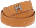 Luxury Accessories:Accessories, Hermes 70cm Vache Naturale H Belt with Palladium Hardware. ...