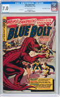 "Golden Age (1938-1955):Science Fiction, Blue Bolt #107 Davis Crippen (""D"" Copy) pedigree (Star Publications, 1950) CGC FN/VF 7.0 Off-white to white pages...."