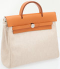 Luxury Accessories:Bags, Hermes Toile and Vache Naturale Herbag Backpack. ...