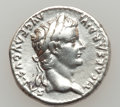 Ancients:Roman Imperial, Ancients: Tiberius (AD 14-37). AR denarius (18mm, 3.69 gm, 9h)....
