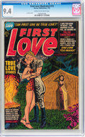 Golden Age (1938-1955):Romance, First Love Illustrated #19 (Harvey, 1952) CGC NM 9.4 Cream tooff-white pages....