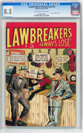 Golden Age (1938-1955):Crime, Lawbreakers #6 (Charlton, 1949) CGC VF+ 8.5 Off-white to white pages....