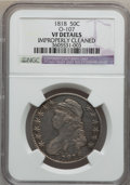 Bust Half Dollars, 1818 50C -- Improperly Cleaned -- NGC Details. VF. O-107. NGCCensus: (12/524). PCGS Population (20/703). Mintage: 1,960,3...