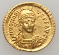 Ancients:Roman Imperial, Ancients: Honorius (AD 393-423). AV solidus (21mm, 4.43 gm, 5h)....