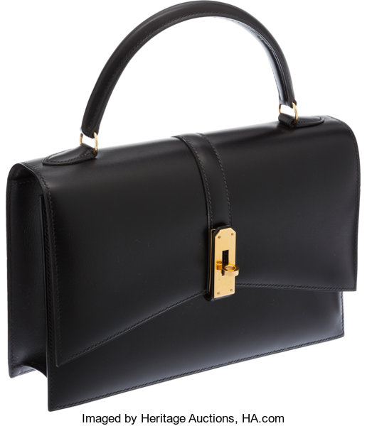 ... Luxury Accessories Bags, Hermes 24cm Black Calf Box Leather Kelly Ceinture  Bag with GoldHardware ... 8a90581f9c7