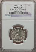 Seated Quarters: , 1876-CC 25C -- Improperly Cleaned -- NGC Details. AU. NGC Census:(9/208). PCGS Population (13/215). Mintage: 4,944,000. Nu...