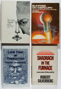 Books:Science Fiction & Fantasy, [Jerry Weist]. Robert Silverberg. Group of Four Signed Books. Various, 1969-1990. To Live Again and Sunrise on Mercury... (Total: 4 Items)