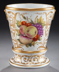 Ceramics & Porcelain, British:Antique  (Pre 1900), AN ENGLISH PORCELAIN JARDINIÈRE AND STAND ATTRIBUTED TO COALPORT, Shropshire, England, circa 1810. 7 inches high x 5-7/8 inc...