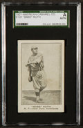 """Baseball Cards:Singles (Pre-1930), 1921 E121 American Caramel Series of eighty """"Babe"""" Ruth, Pitching SGC Authentic. ..."""