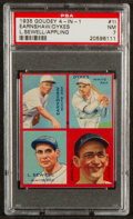 Baseball Cards:Singles (1930-1939), 1935 Goudey 4-in-1 Appling/Dykes/Earnshaw/Sewell #1I PSA NM 7 - PopFour, Only One Higher. ...