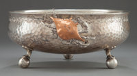 A WHITING SILVER AND MIXED METALS FOOTED BOWL Whiting Manufacturing Company, New York, New York, circa 1875 Ma