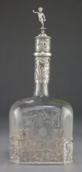 Silver Holloware, Continental:Holloware, A HANAU SILVER MOUNTED DECANTER. Attributed to Friedrich Reusswig,Hanau, Germany, circa 1905. Unmarked. 12-1/8 inches high ...