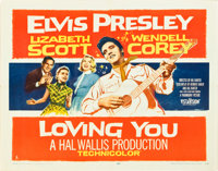"Loving You (Paramount, 1957). Half Sheet (22"" X 28"") Style A"