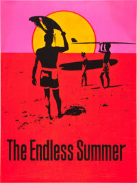 "The Endless Summer (Personality Posters, 1966). Silk-Screen Day Glo-Poster (31.5"" X 42"")"