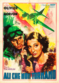 """Movie Posters:Thriller, Clouds Over Europe (Minerva, Late 1940s). First Post War Italian 2 - Foglio (39"""" X 55"""").. ..."""